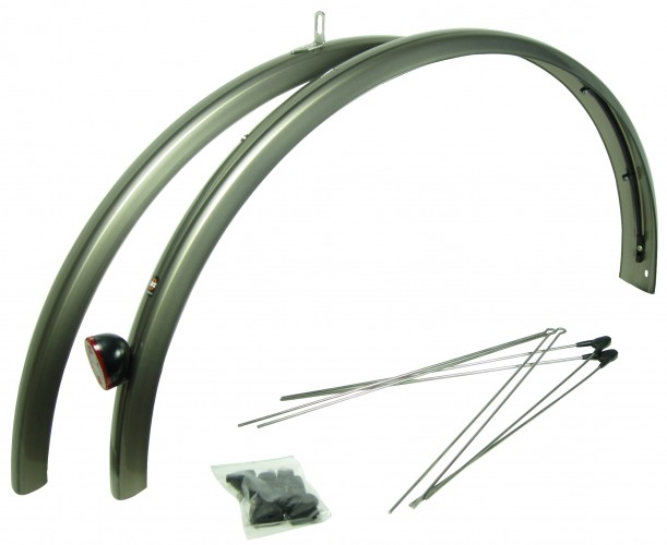 SKS 700c Fenders Sets Silver Chromet 22