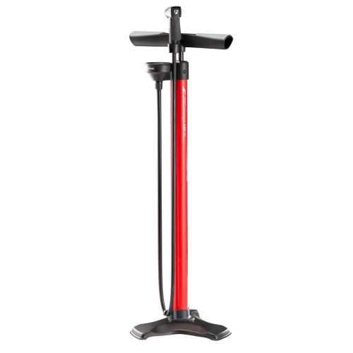 Bontrager Turbo Charger HP Floor Pump Red