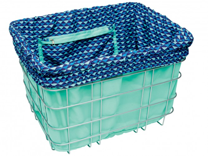 Electra Basket Liners Light Blue/Multi Triangles