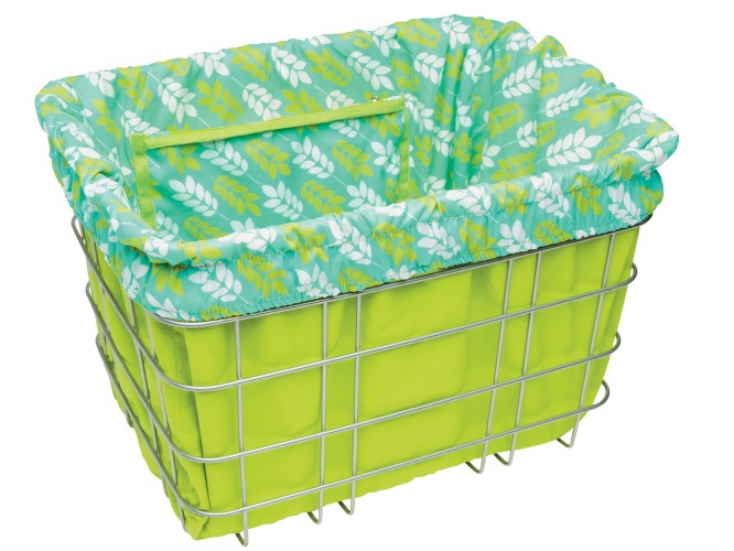 Electra Basket Liners Green/Leaves