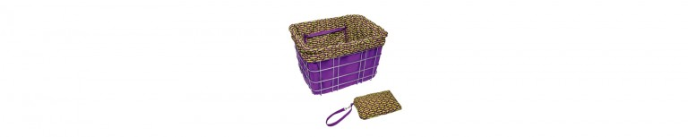 Electra Basket Liners Purple/Ovals